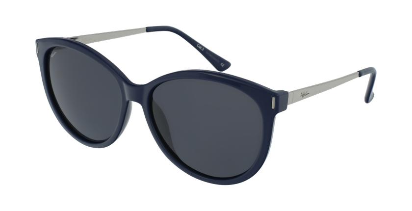 Gafas de sol mujer ZAFRA azul/plateado - vue de 3/4