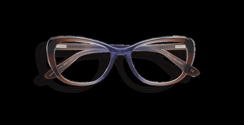 Gafas graduadas mujer CINDY marrón/morado - vista de frente