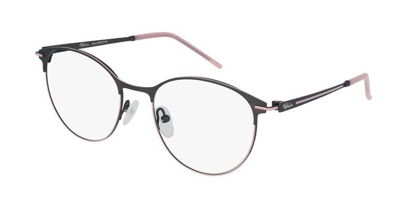 Gafas graduadas mujer MEROPE gris/rosa - vue de 3/4