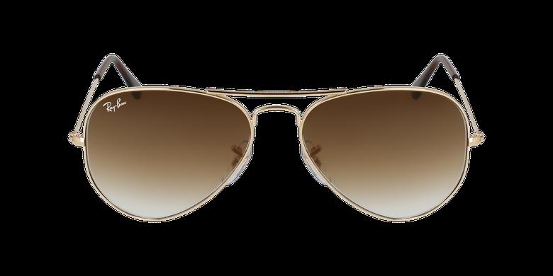 Gafas de sol AVIATOR LARGE METAL dorado/marrónvista de frente