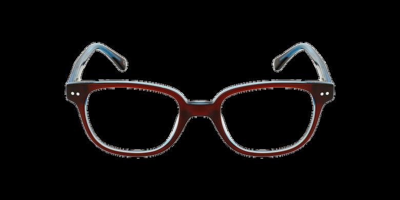 Gafas graduadas niños MARCEL rojo/azulvista de frente