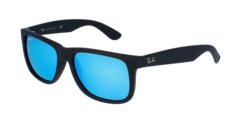 Gafas de sol hombre JUSTIN negro/azul - vue de 3/4