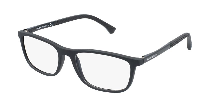 Gafas graduadas hombre EA 3069 negro/negro - vue de 3/4