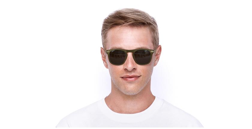 Gafas de sol hombre BENALI marrón/dorado - vista de frente