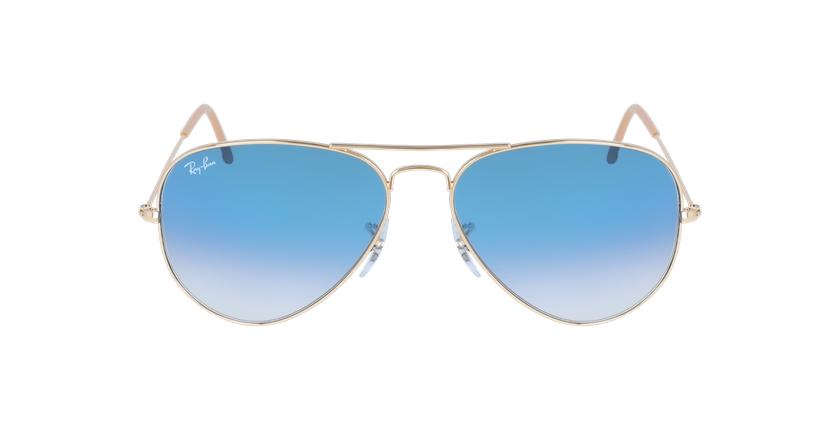 Gafas de sol AVIATOR LARGE METAL dorado/azul - vista de frente