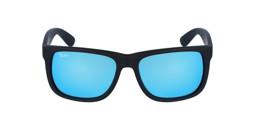 Gafas de sol hombre JUSTIN negro/azul - vista de frente