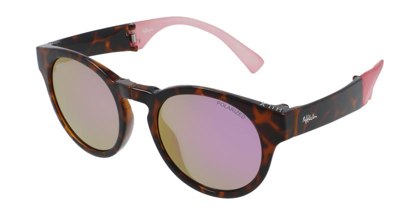 Gafas de sol mujer SLALOM carey/rosa - vue de 3/4