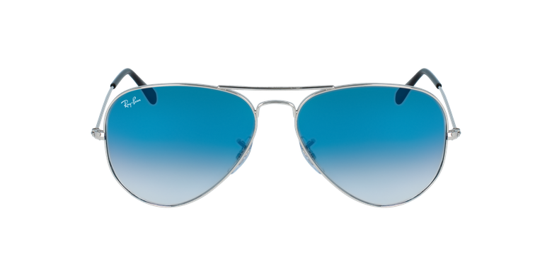 Gafas de sol AVIATOR LARGE METAL plateado/azul