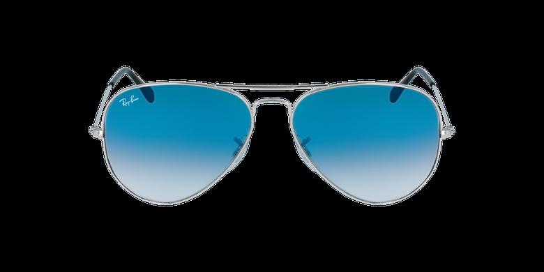 Gafas de sol AVIATOR LARGE METAL plateado/azulvista de frente