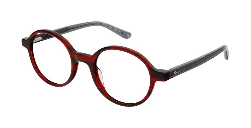 Gafas graduadas mujer OAF21619 rojo - vue de 3/4