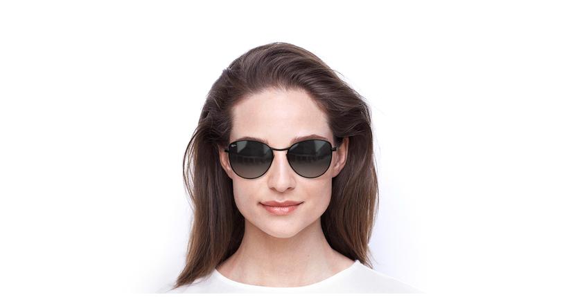 Gafas de sol mujer TEYA negro - vista de frente