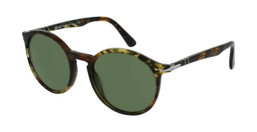 Gafas de sol hombre 0PO3214S marrón/verde - vue de 3/4