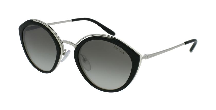 Gafas de sol mujer 0PR 18US negro/plateado - vue de 3/4