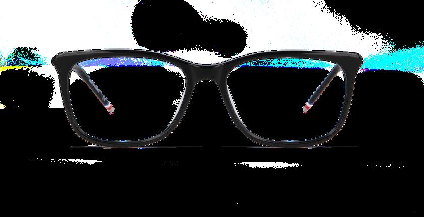 Gafas graduadas mujer YLANG negro - vista de frente
