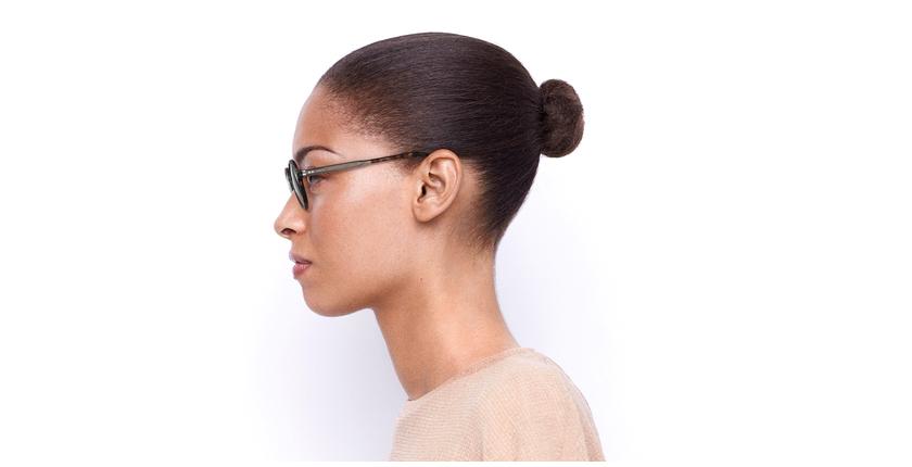 Gafas graduadas BERLIOZ carey/rosa - vista de lado