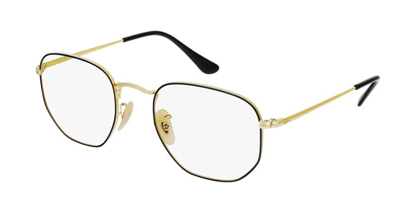 Gafas graduadas 0RX6448 negro/dorado - vue de 3/4