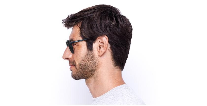 Gafas de sol MAC azul/plateado - vista de lado
