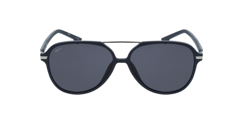 Gafas de sol hombre BASAURI azul/plateado - vista de frente