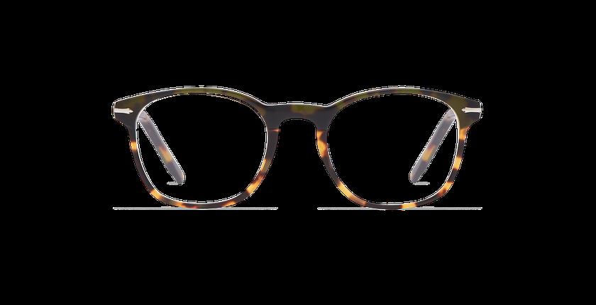 Gafas graduadas hombre LONGCHAUMOIS verde/carey - vista de frente