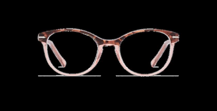 Gafas graduadas mujer BELLEFONTAINE carey/rosa - vista de frente