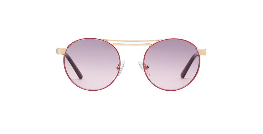Gafas de sol mujer ROMY rosa/dorado - vista de frente