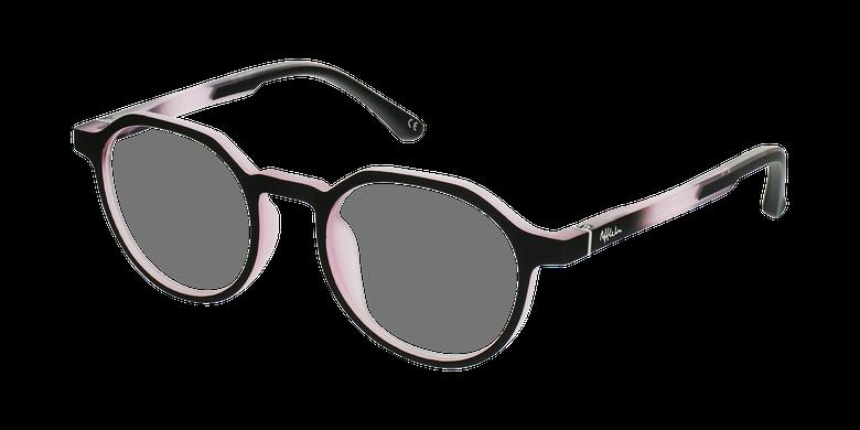 Gafas graduadas niños MAGIC 77 ECO-RESPONSABLE negro/rosavue de 3/4