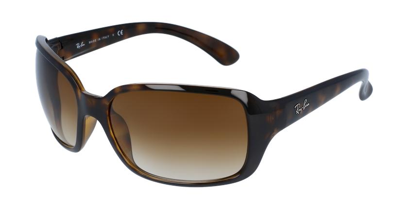Gafas de sol mujer 0RB4068 marrón - vue de 3/4