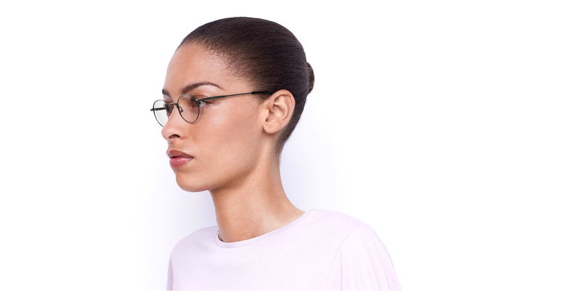 Gafas graduadas CLEO plateado - vue de 3/4