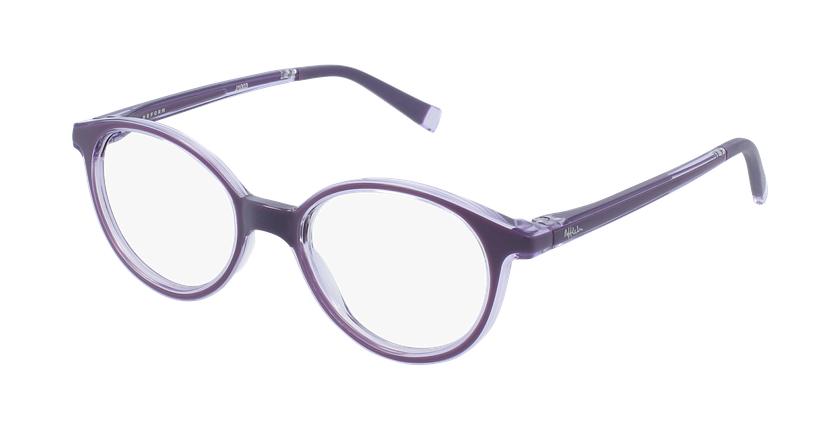 Gafas graduadas niños RFOP2 morado - vue de 3/4