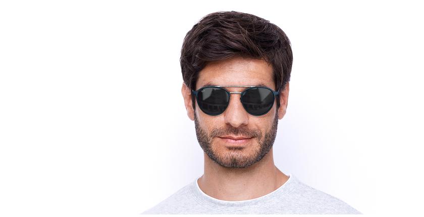 Gafas de sol MAC azul/plateado - vista de frente