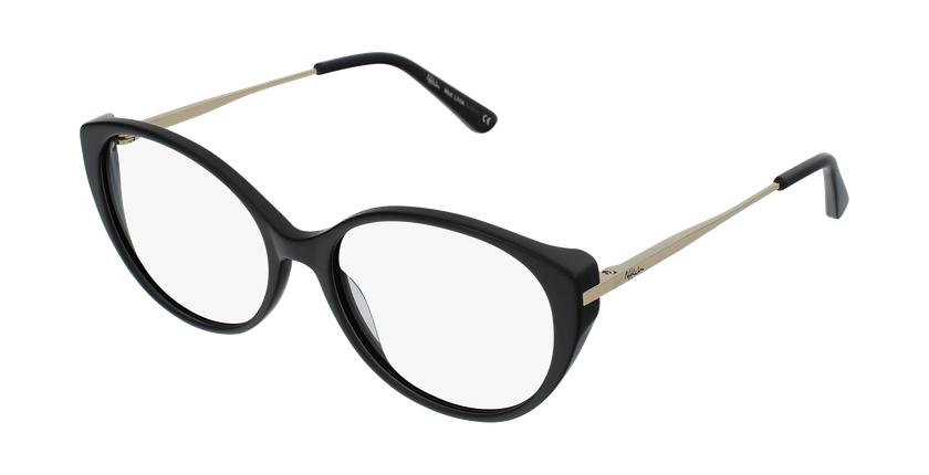 Gafas graduadas mujer LIVIA negro - vue de 3/4
