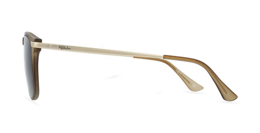 Gafas de sol hombre BENALI marrón/dorado - vista de lado