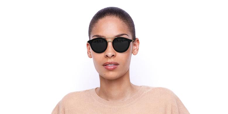 Gafas de sol mujer ITABATA negro/dorado