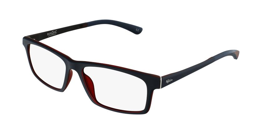 Gafas graduadas hombre MAGIC 62 azul/rojo - vue de 3/4