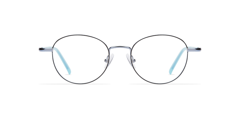Gafas graduadas mujer NELIA negro/azul - vista de frente