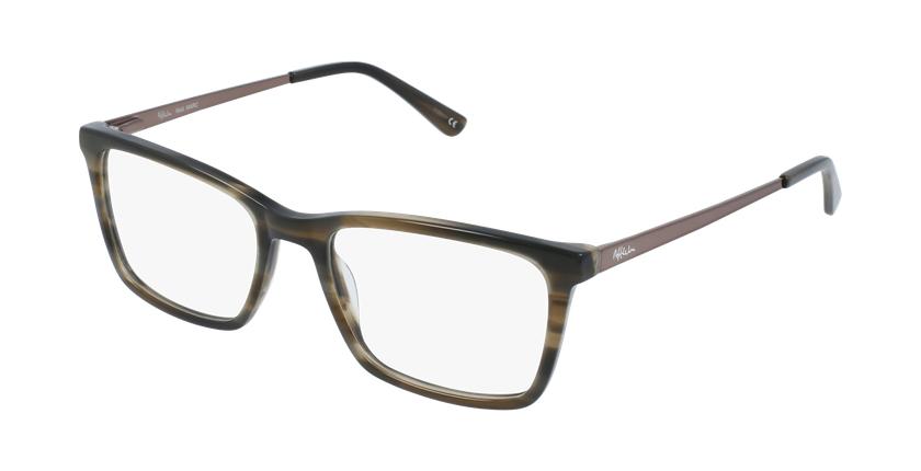 Gafas graduadas hombre MARC marrón - vue de 3/4