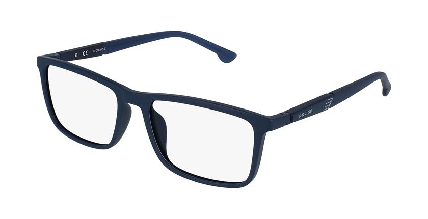 Gafas graduadas hombre VPL877 azul/azul - vue de 3/4