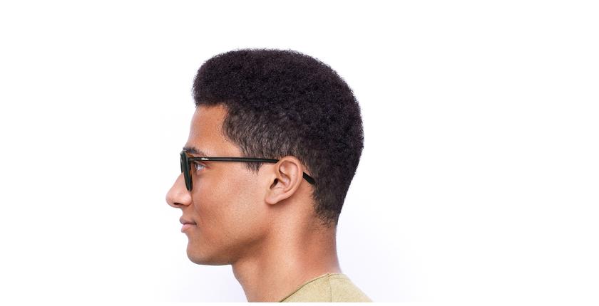 Gafas de sol hombre RICK marrón - vista de lado