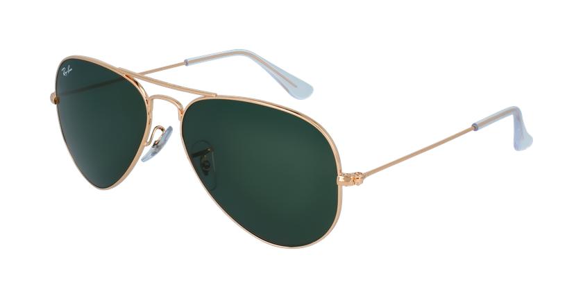 Gafas de sol AVIATOR LARGE METAL dorado/negro - vue de 3/4