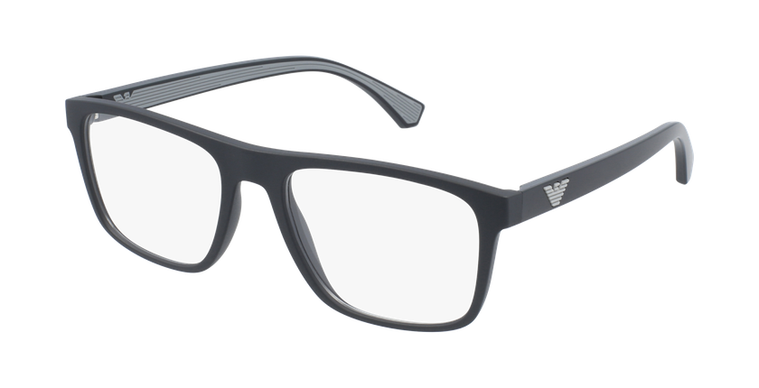 Gafas graduadas hombre EA 3159 negro/negro - vue de 3/4