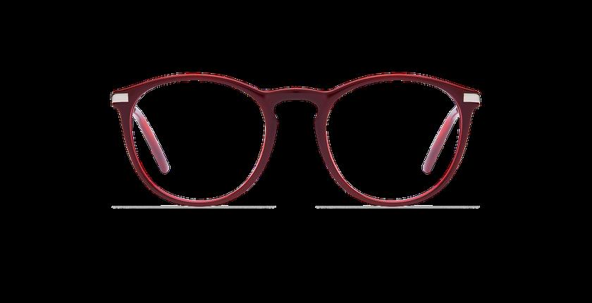 Gafas graduadas mujer ZELDA rojo - vista de frente