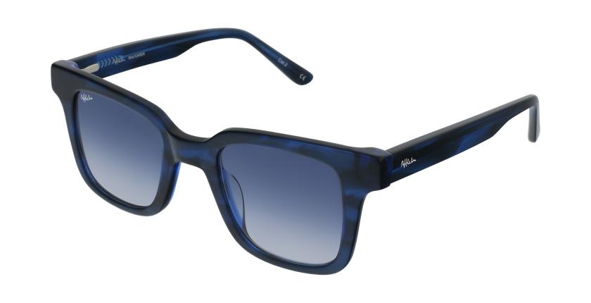 Gafas de sol mujer KAREN carey/azul - vue de 3/4