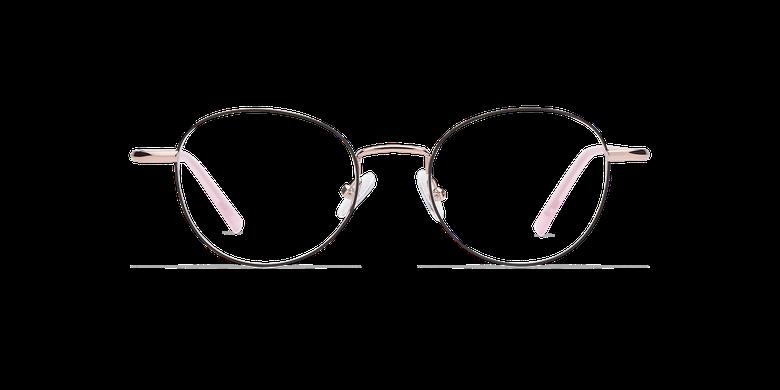 Gafas graduadas mujer NELIA negro/rosavista de frente
