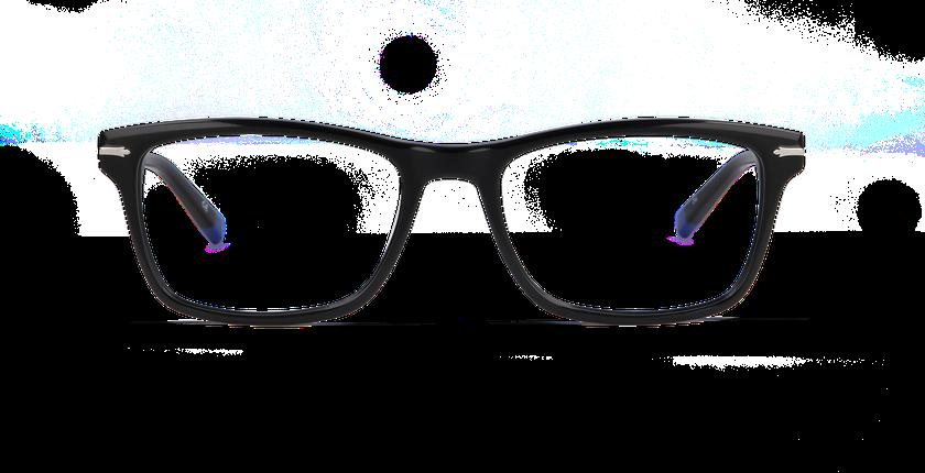 Gafas graduadas hombre REGENT negro - vista de frente