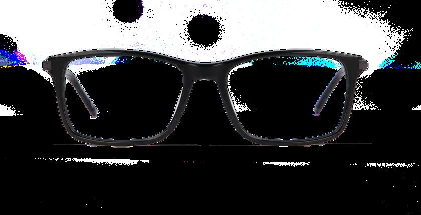 Gafas graduadas hombre LOUVRE negro - vista de frente