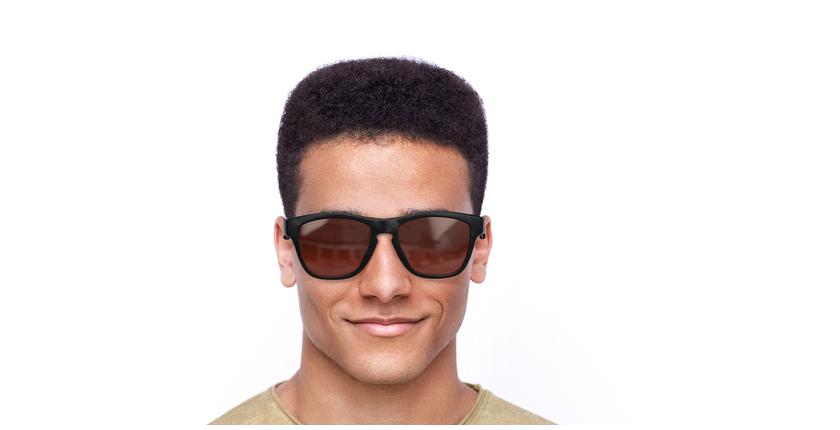 Gafas de sol hombre GEANT negro/rojo - vista de frente