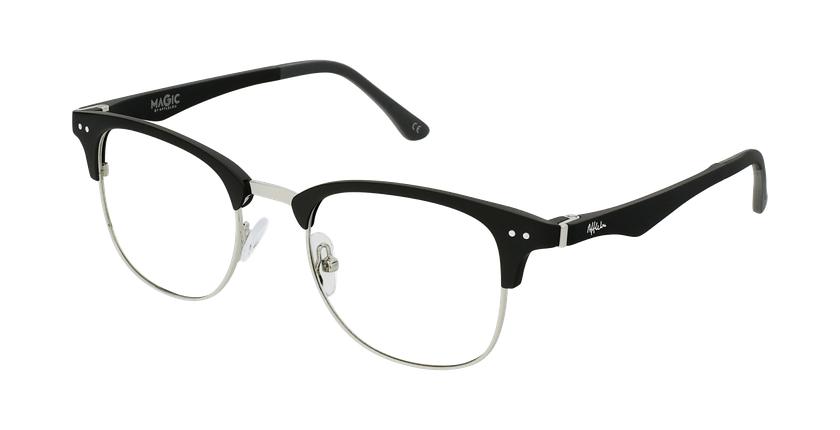 Gafas graduadas TMG92 negro/plateado - vue de 3/4