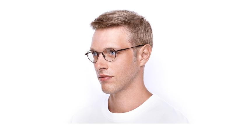 Gafas graduadas CLEO rojo - vue de 3/4