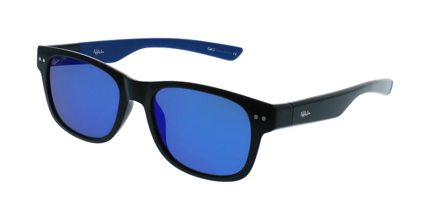 Gafas de sol hombre FLORENT negro/azul - vue de 3/4