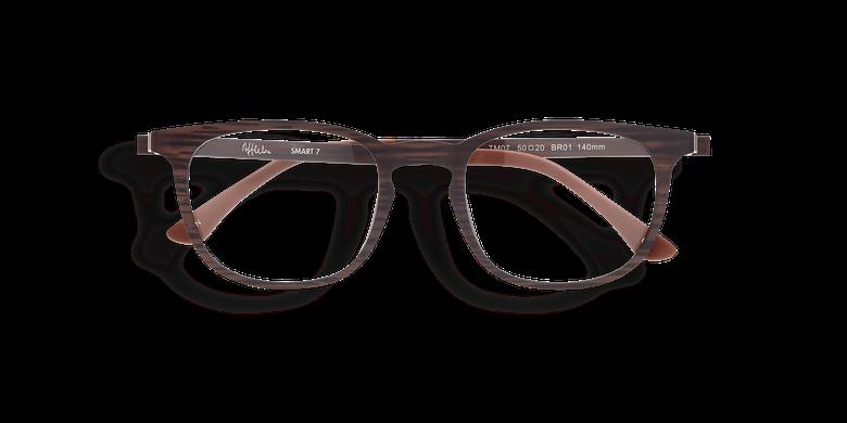 Gafas graduadas hombre MAGIC 07 marrón/marrón marmoleado